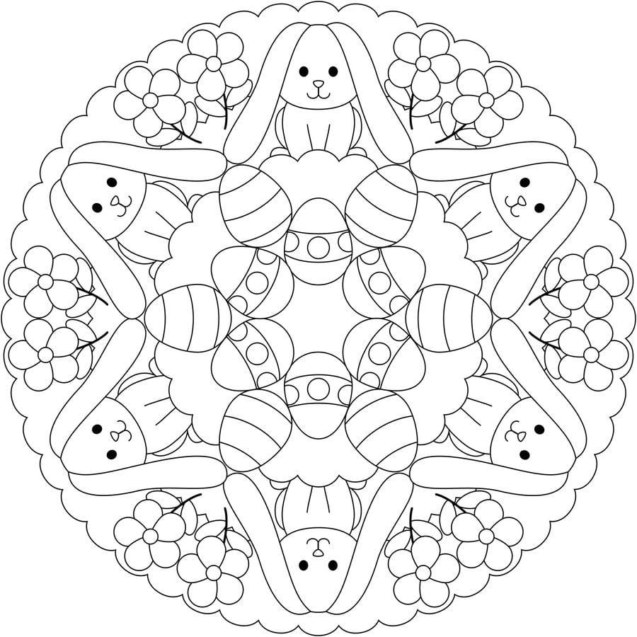Ausmalbilder Ausmalbilder Ostern Mandalas Zum Ausdrucken