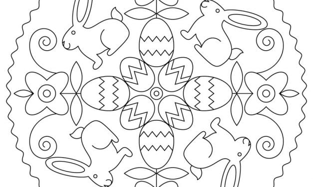 Coloring pages: Easter Mandalas