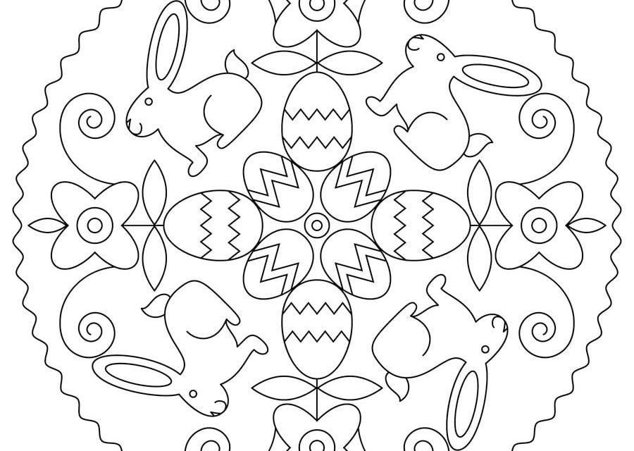 ausmalbilder ostern mandala