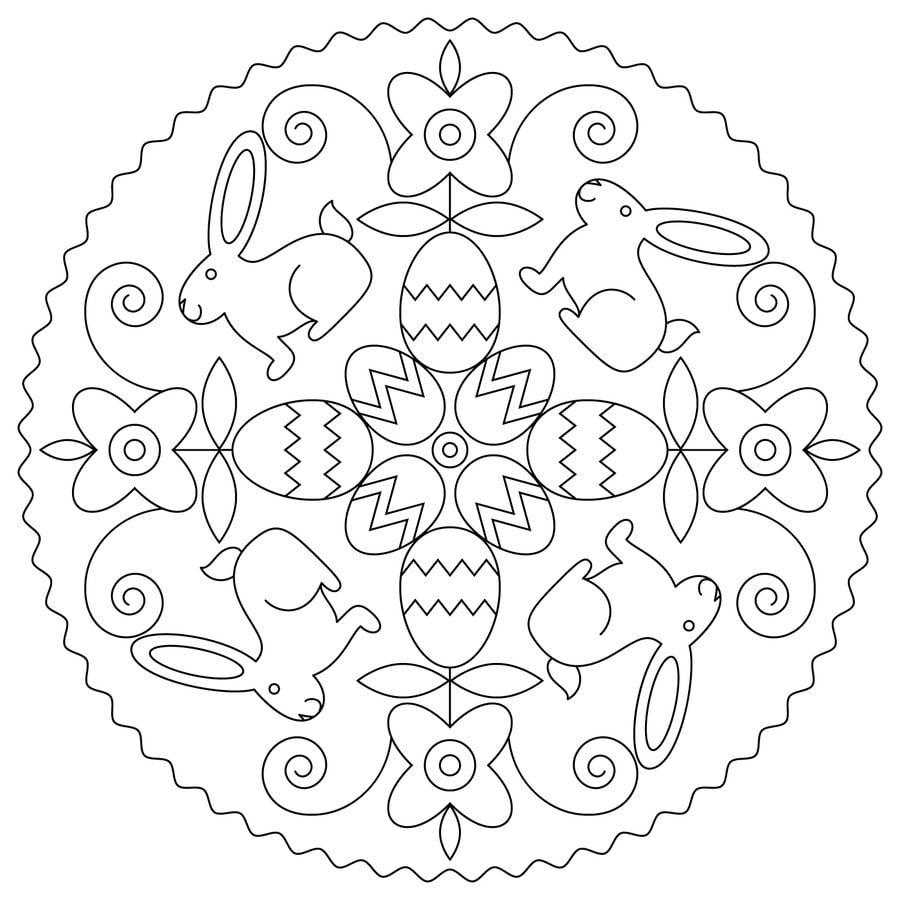 Dibujos para colorear: Mandalas de Pascua imprimible, gratis, para ...