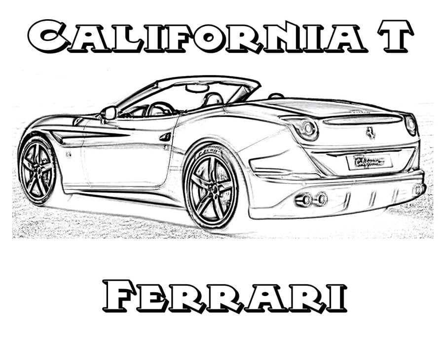 2009 Ferrari 599XX coloring page | Free Printable Coloring Pages | 695x900