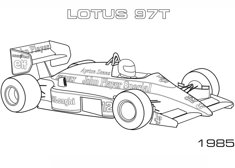 Kolorowanki Kolorowanki Formula 1 Do Druku Dla Dzieci I Doroslych