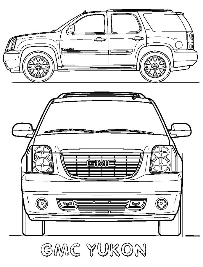 Coloring Pages Gmc Printable For Kids Adults Free