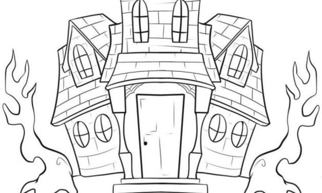 Coloring pages: Haunted House
