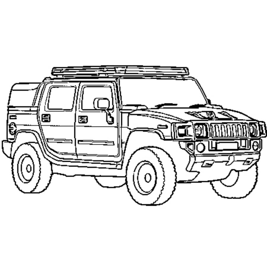 free coloring pages hummer - photo#22