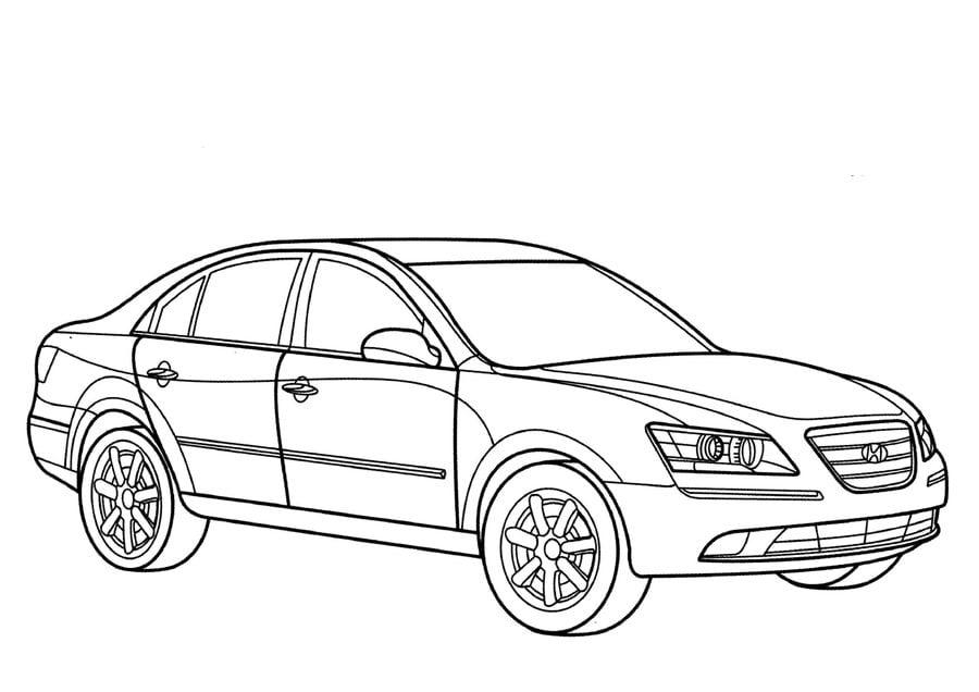 Ausmalbilder Hyundai zum ausdrucken