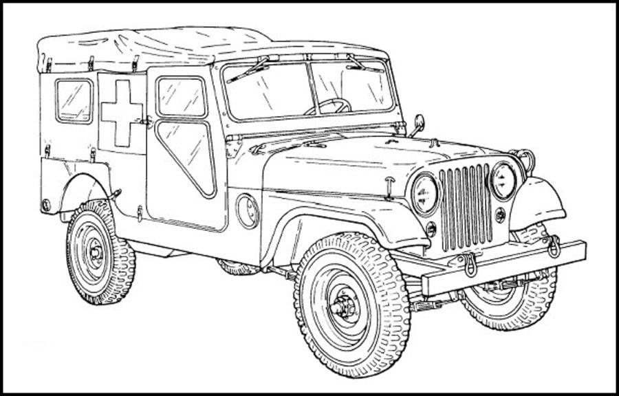 Kolorowanki kolorowanki jeep do druku dla dzieci i doros ych - Auto cool alle pagine da colorare ...