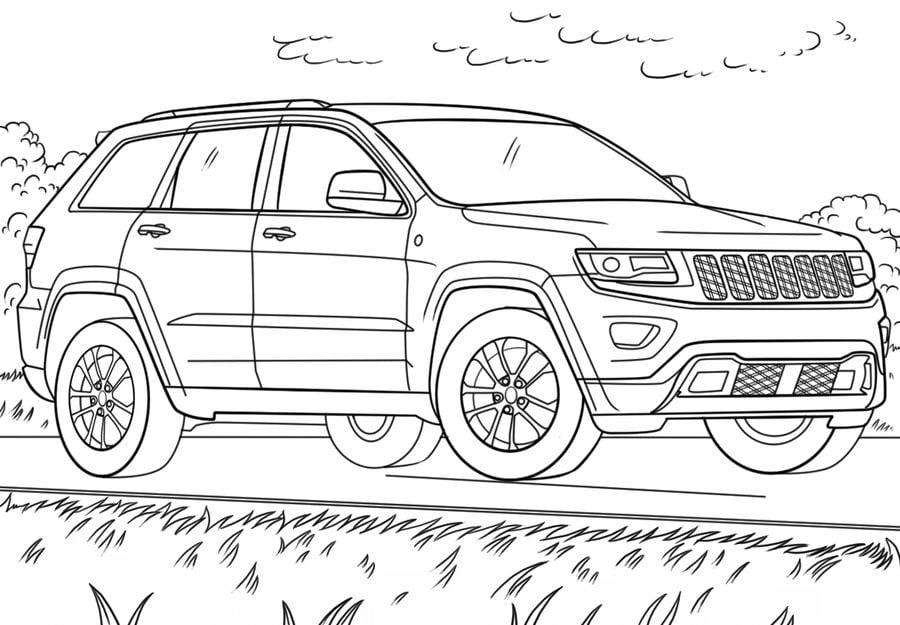Dibujos Para Colorear Jeep Imprimible Gratis Para Los
