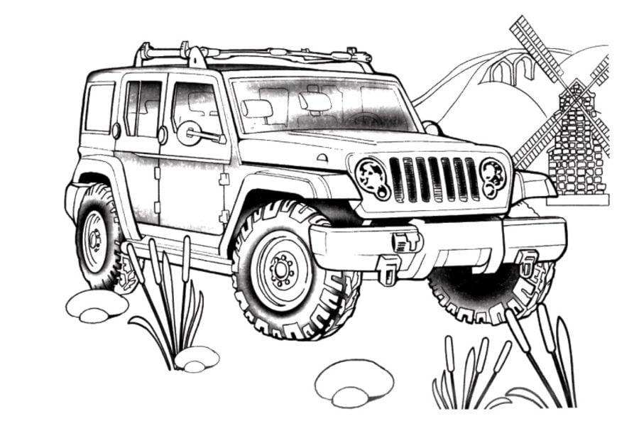 ausmalbilder  ausmalbilder  jeep zum ausdrucken  kostenlos