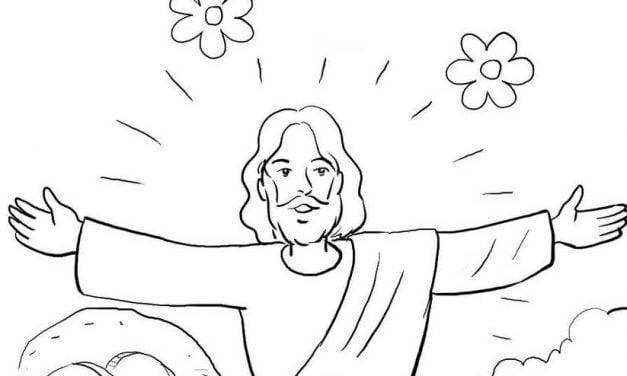 Coloring pages: Jesus Resurrection