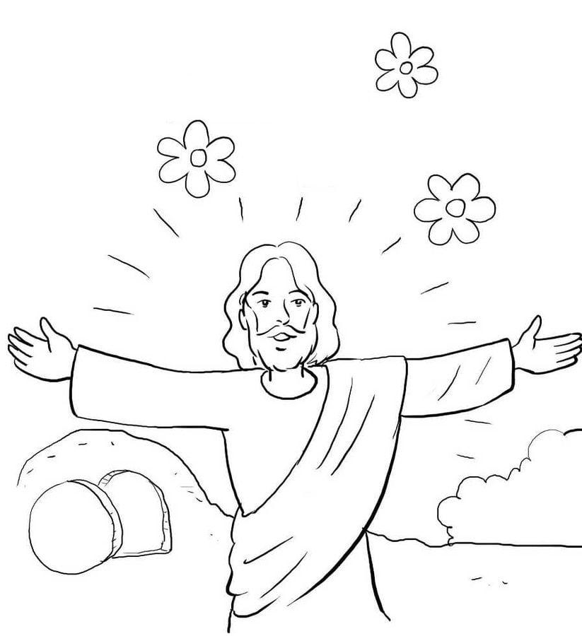 Dibujos para colorear: Resurrección de Jesús imprimible, gratis ...