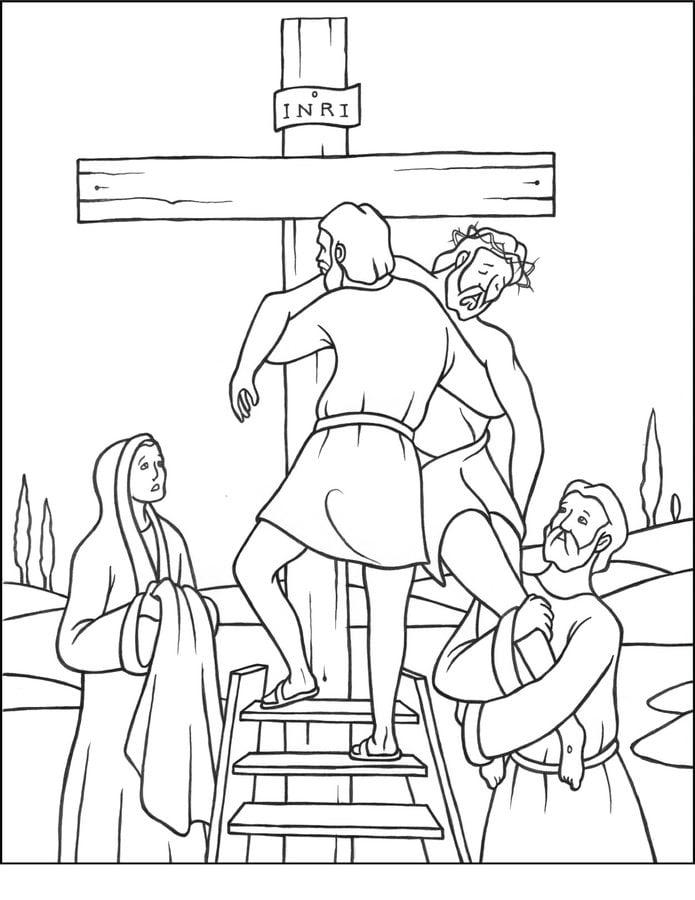 Dibujos para colorear: Viacrucis de Jesús, estaciones de la cruz ...