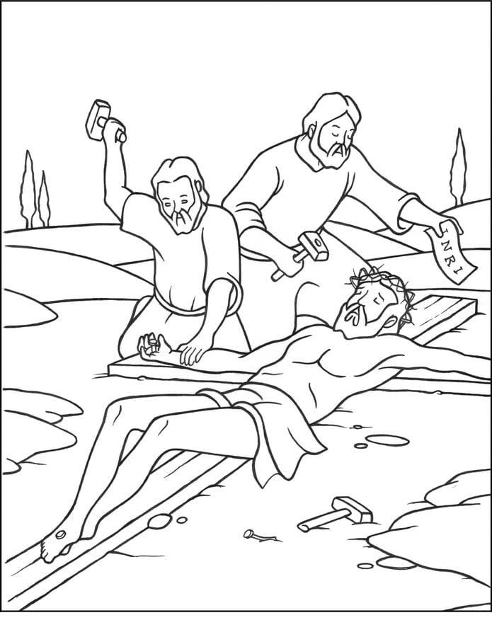 Disegni Da Colorare Disegni Da Colorare La Via Crucis Di Gesù