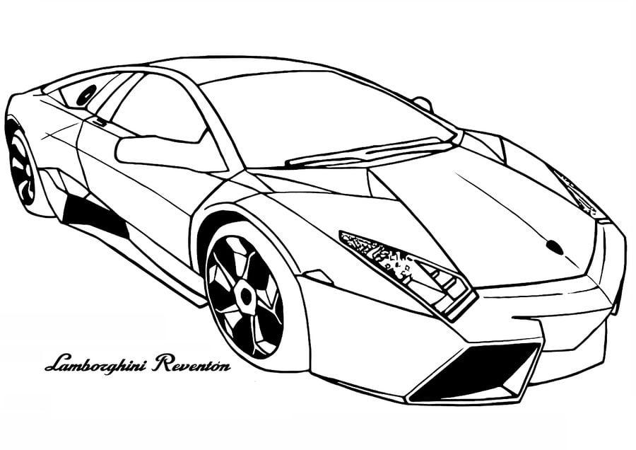 Dibujos Para Colorear Lamborghini Imprimible Gratis