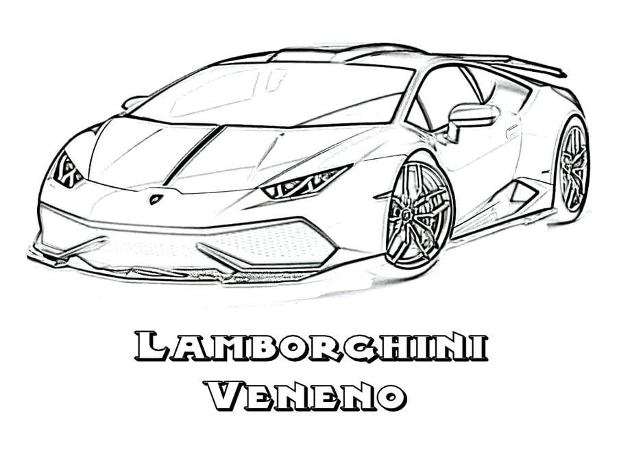 Dibujos para colorear: Lamborghini imprimible, gratis ...