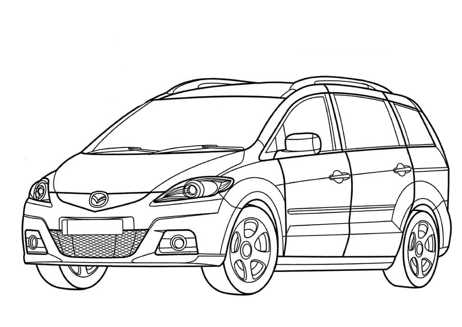 Coloring pages Mazda printable