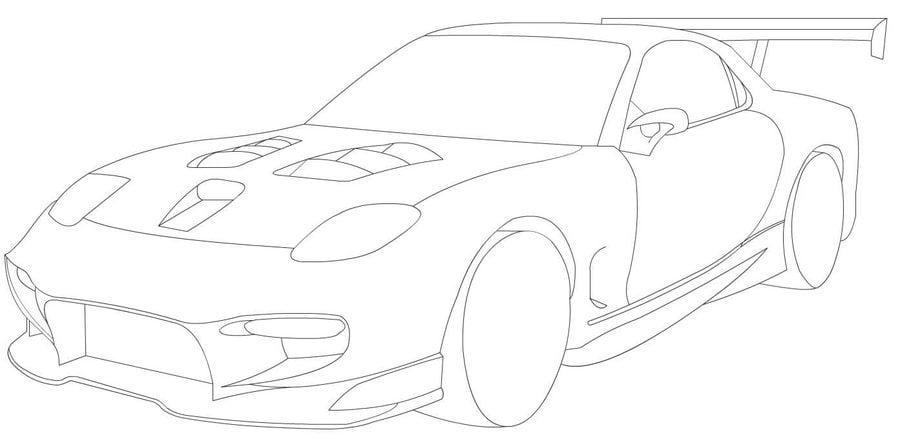 Ausmalbilder Ausmalbilder Mazda Zum Ausdrucken Kostenlos Für