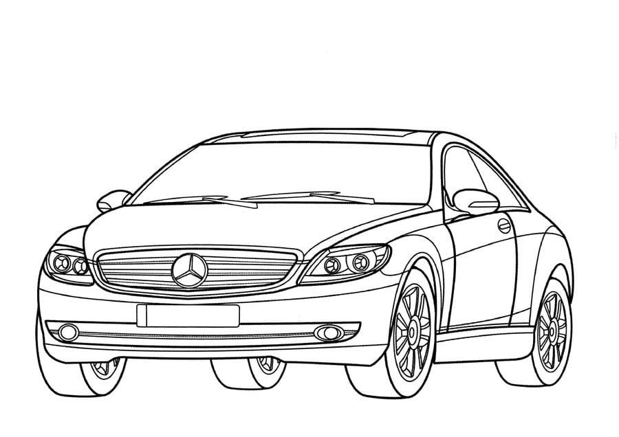Ausmalbilder: Ausmalbilder: Mercedes zum ausdrucken, kostenlos, für Kinder und Erwachsene
