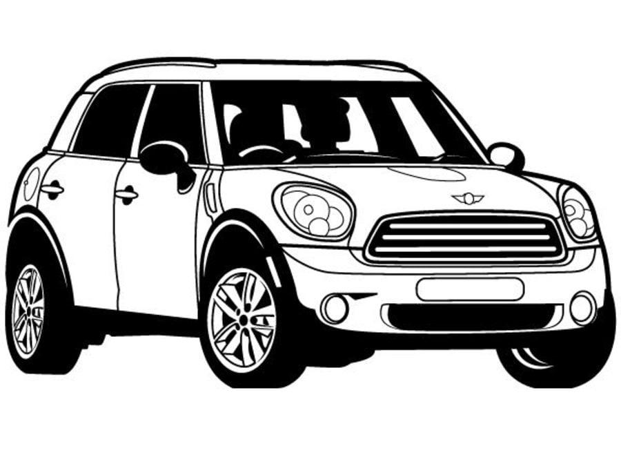 Dibujos para colorear mini cooper imprimible gratis para los ni os y los adultos - Coloriage voiture mini cooper ...