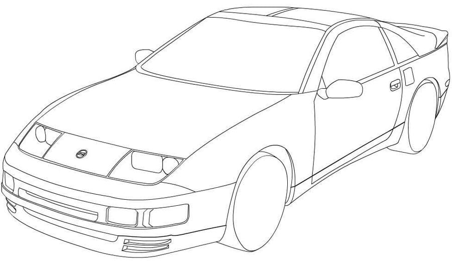 Nissan Cars Coloring Pages Transport