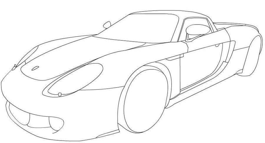 Disegni Da Colorare Disegni Da Colorare Porsche