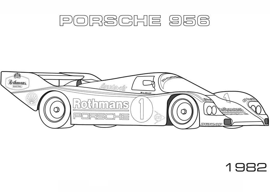 Ausmalbilder: Porsche zum ausdrucken, kostenlos, für Kinder und ...
