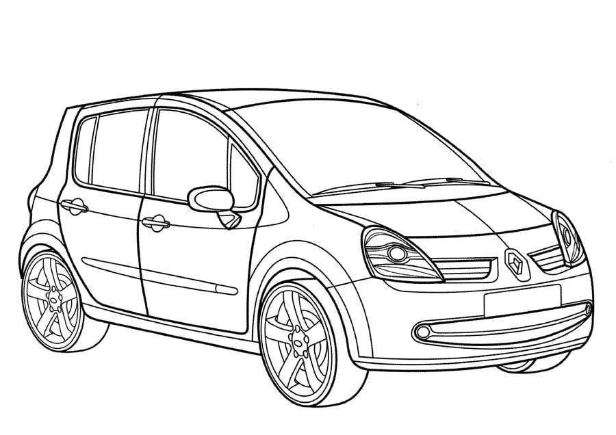Disegni da colorare disegni da colorare renault - Dessin a colorier de voiture ...