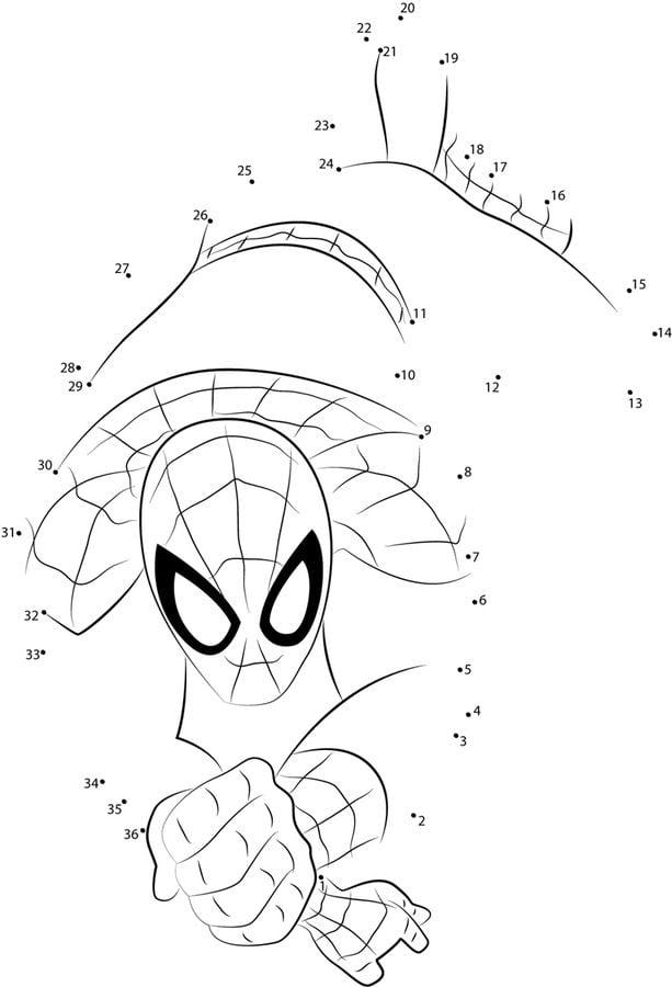 Relier les points spider man imprimable gratuit pour les enfants et les adultes - Spiderman dessin anime gratuit ...