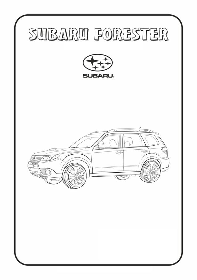 Coloring Pages Coloring Pages Subaru Printable For Kids Adults