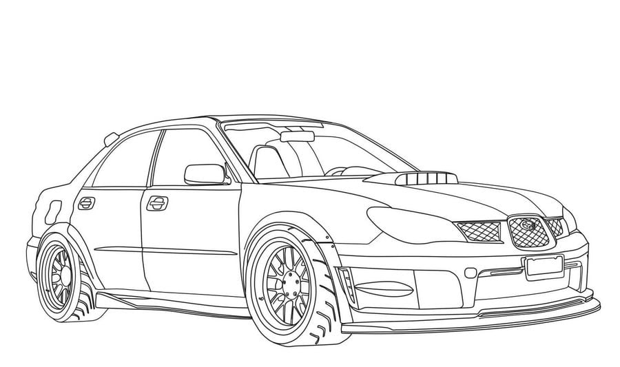 subaru outback coloring pages - photo#7