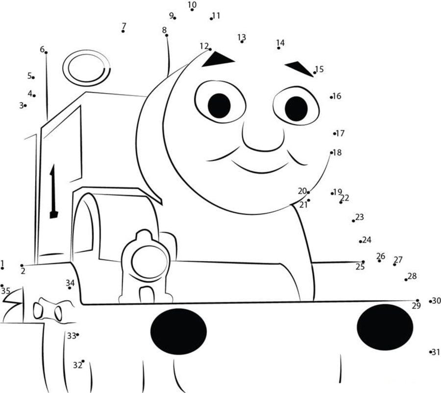 Unir puntos: Thomas y sus amigos imprimible, gratis, para los niños ...