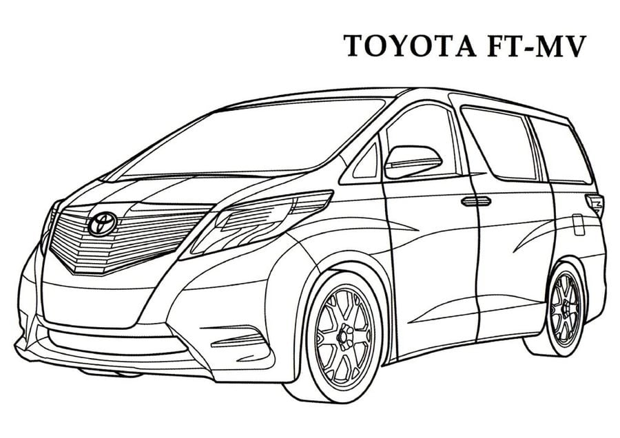 Toyota Cars Coloring Pages Transport