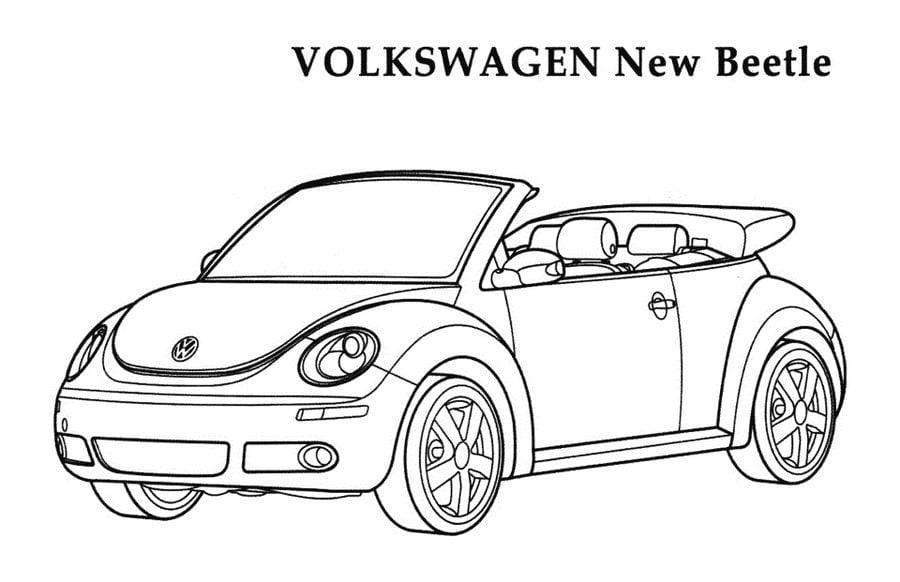 Bug Car Coloring Pages : Coloring pages vw beetle i printed out the