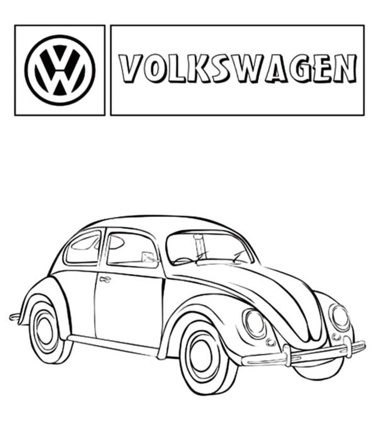 Coloring Pages Volkswagen Printable For Kids Adults Free