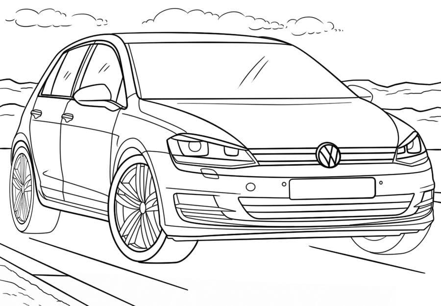 disegni da colorare  disegni da colorare  volkswagen