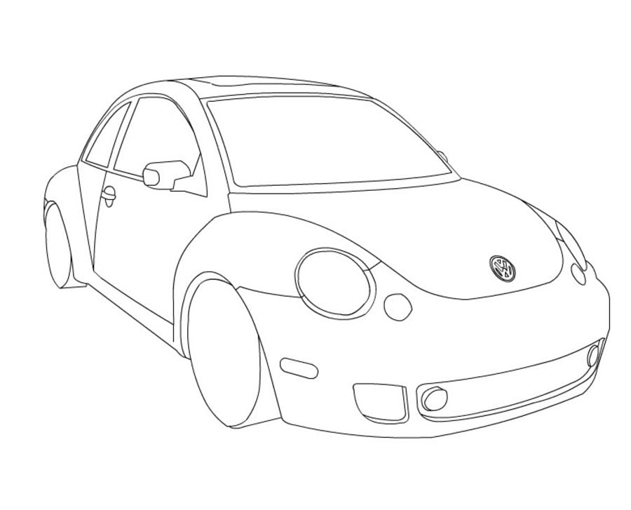 Ausmalbilder: Volkswagen zum ausdrucken, kostenlos, für Kinder und ...