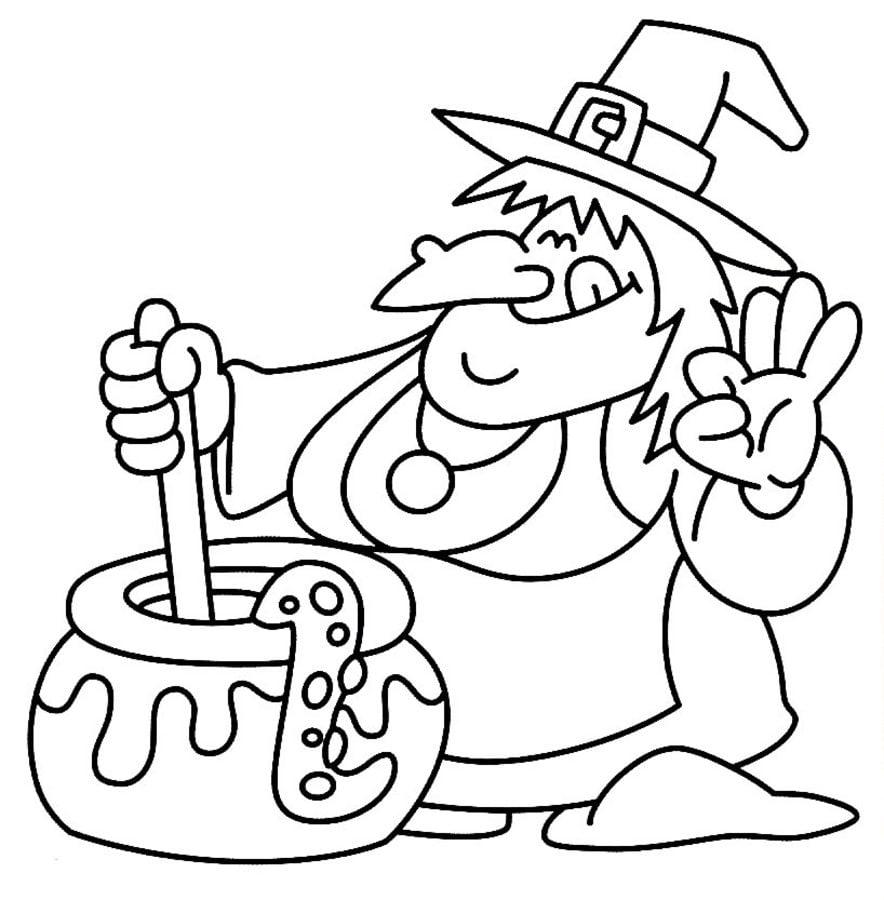 Halloween Ausmalbilder Hexe : Ausmalbilder Hexe Zum Ausdrucken Kostenlos F R Kinder Und Erwachsene