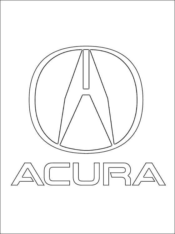Coloring Pages Coloring Pages Logo Acura Printable