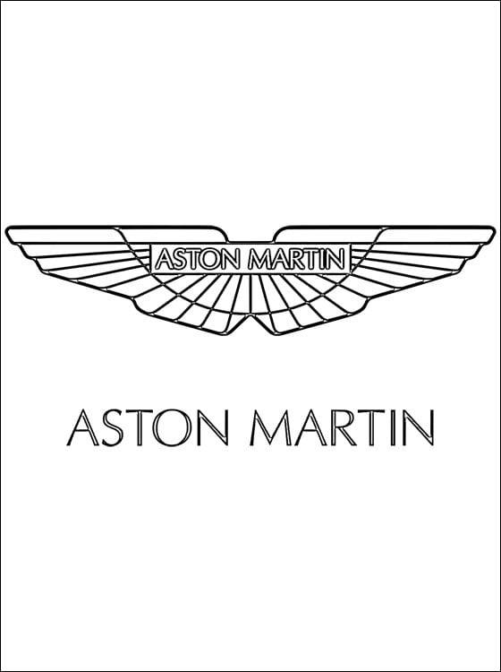 Dibujos para colorear: Logotipo - Aston Martin imprimible, gratis ...