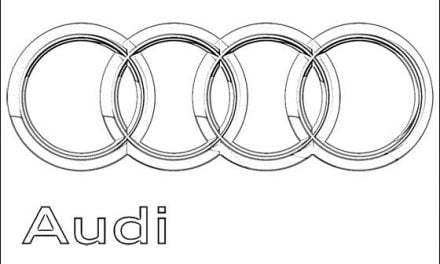 Coloring pages: Audi – Logo
