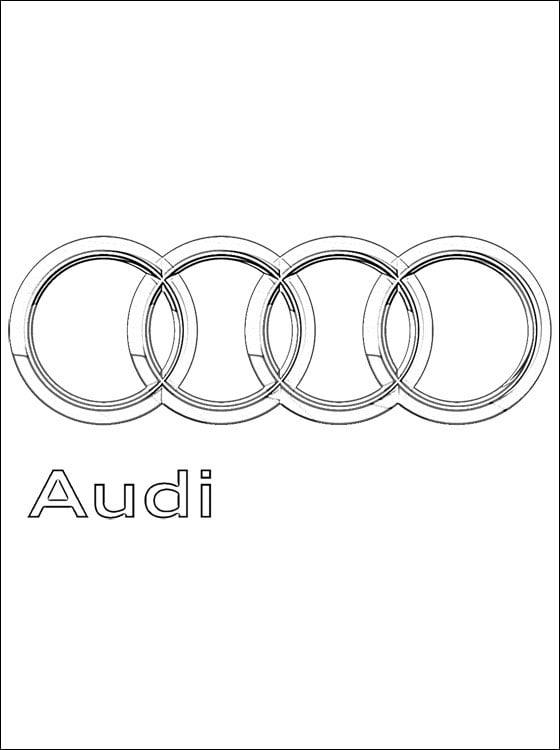 Ausmalbilder Ausmalbilder Audi Logo Zum Ausdrucken Kostenlos