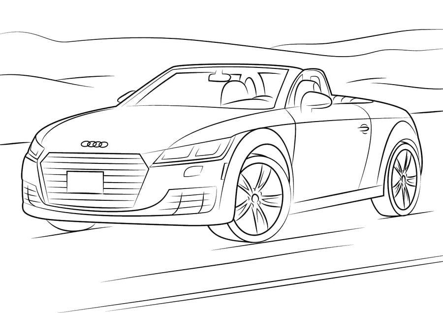 Dibujos para colorear: Audi imprimible, gratis, para los ...