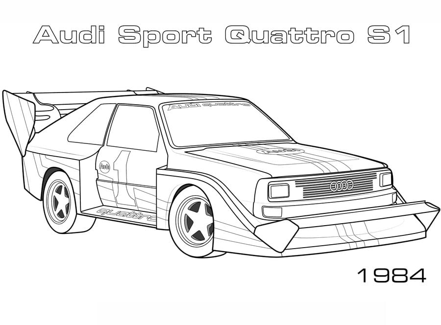 Audi Cars R8 Sedan Coloring Pages Audi Cars Coloring