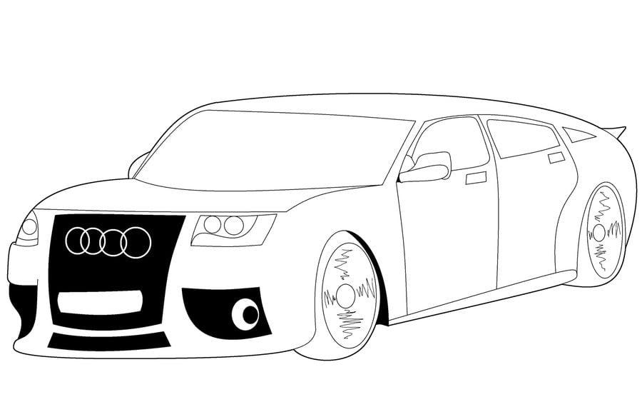 Audi Ausmalbilder Zum Ausdrucken: Ausmalbilder: Ausmalbilder: Audi Zum Ausdrucken, Kostenlos