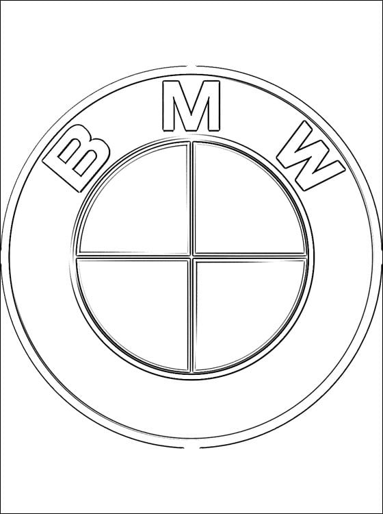 Coloring pages: BMW - Logo, printable for kids & adults, free