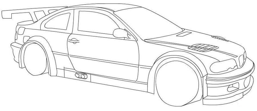 Ausmalbilder BMW zum ausdrucken