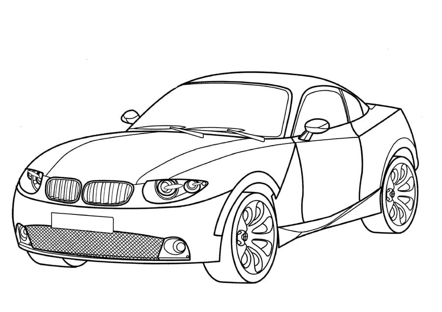 Ausmalbilder: BMW zum ausdrucken, kostenlos, für Kinder und Erwachsene
