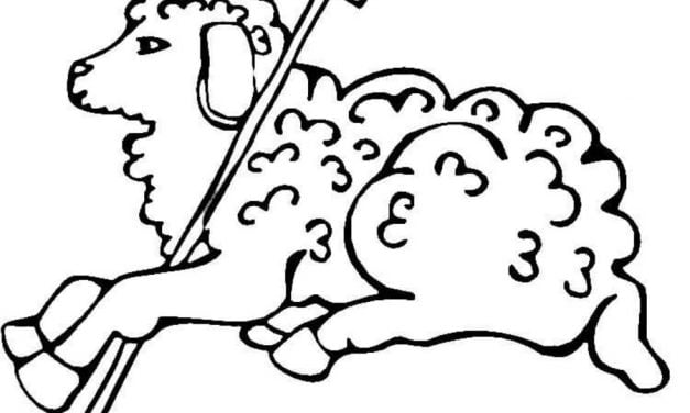Coloring pages: Easter Lamb