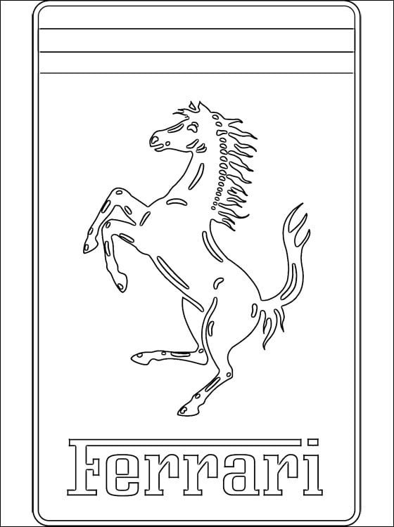 Ferrari Sport Car Coloring Page | Cars coloring pages, Race car ... | 750x560