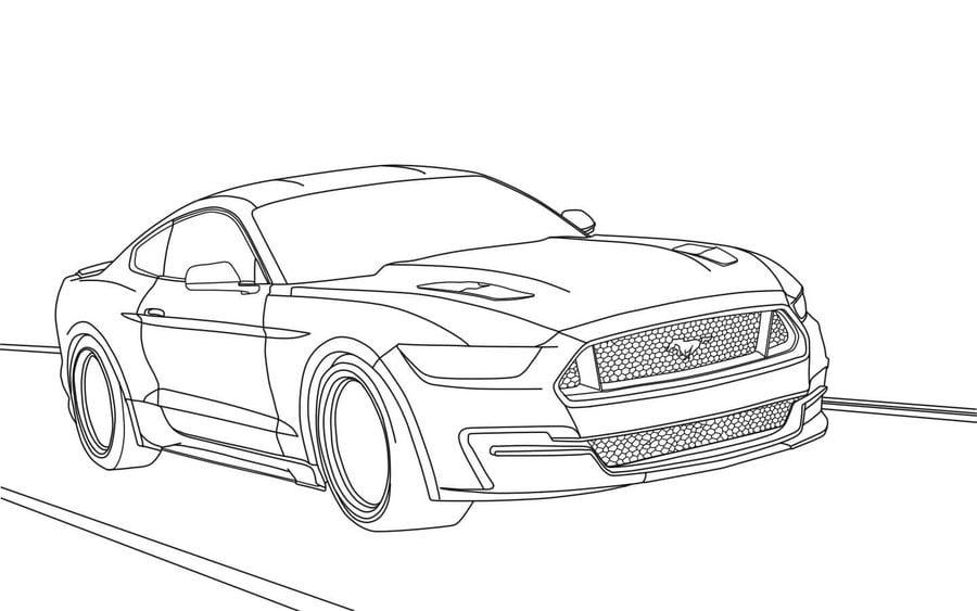 disegni da colorare  ford stampabile  gratuito  per bambini e adulti
